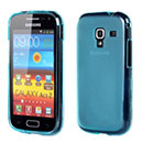 Custodia Samsung Galaxy Ace 2 i8160 Silicone Trasparente Case - Blu
