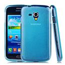 Custodia Samsung Galaxy Core i8262 i8260 Silicone Trasparente Case - Blu