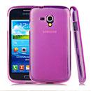Custodia Samsung Galaxy Core i8262 i8260 Silicone Trasparente Case - Fucsia