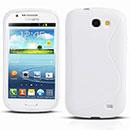 Custodia Samsung Galaxy Express i8730 S-Line Silicone Bumper - Bianco