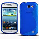 Custodia Samsung Galaxy Express i8730 S-Line Silicone Bumper - Blu