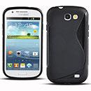 Custodia Samsung Galaxy Express i8730 S-Line Silicone Bumper - Nero