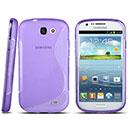Custodia Samsung Galaxy Express i8730 S-Line Silicone Bumper - Porpora