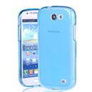 Custodia Samsung Galaxy Express i8730 Silicone Trasparente Case - Blu