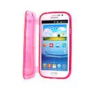 Custodia Samsung Galaxy Grand Duos i9080 i9082 Flip Silicone Trasparente Case - Rosa