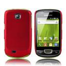 Custodia Samsung Galaxy Mini S5570 Plastica Cover Rigida Guscio - Rosso