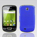 Custodia Samsung Galaxy Mini S5570 Rete Cover Rigida Guscio - Blu