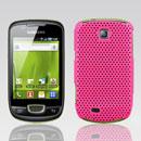 Custodia Samsung Galaxy Mini S5570 Rete Cover Rigida Guscio - Fucsia