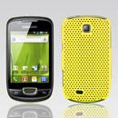 Custodia Samsung Galaxy Mini S5570 Rete Cover Rigida Guscio - Giallo