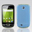 Custodia Samsung Galaxy Mini S5570 Rete Cover Rigida Guscio - Luce Blu