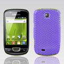 Custodia Samsung Galaxy Mini S5570 Rete Cover Rigida Guscio - Porpora