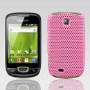 Custodia Samsung Galaxy Mini S5570 Rete Cover Rigida Guscio - Rosa