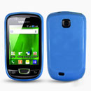 Custodia Samsung Galaxy Mini S5570 Silicone Case - Luce Blu