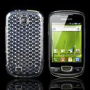 Custodia Samsung Galaxy Mini S5570 TPU Diamante Silicone Case - Chiaro