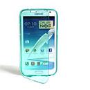 Custodia Samsung Galaxy Note 2 N7100 Flip Silicone Bumper - Luce Blu