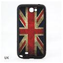Custodia Samsung Galaxy Note 2 N7100 La bandiera del Regno Unito Cover - Grigio