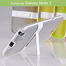 Custodia Samsung Galaxy Note 2 N7100 Titolare dello Stand Silicone Trasparente - Grigio
