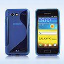Custodia Samsung Galaxy S Advance i9070 S-Line Silicone Bumper - Blu