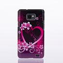 Custodia Samsung Galaxy S2 Plus i9105 Amore Plastica Cover Rigida - Porpora