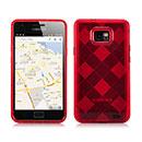 Custodia Samsung Galaxy S2 Plus i9105 Grid TPU Silicone Case - Rosso