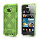 Custodia Samsung Galaxy S2 Plus i9105 Grid TPU Silicone Case - Verde