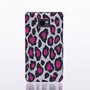 Custodia Samsung Galaxy S2 Plus i9105 Leopard Cover Bumper - Fucsia