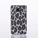 Custodia Samsung Galaxy S2 Plus i9105 Leopard Cover Bumper - Grigio