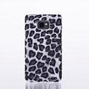 Custodia Samsung Galaxy S2 Plus i9105 Leopard Cover Bumper - Nero