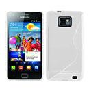 Custodia Samsung Galaxy S2 Plus i9105 S-Line Silicone Bumper - Bianco