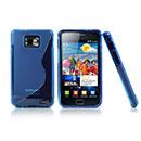 Custodia Samsung Galaxy S2 Plus i9105 S-Line Silicone Bumper - Blu