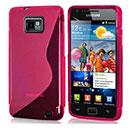 Custodia Samsung Galaxy S2 Plus i9105 S-Line Silicone Bumper - Fucsia