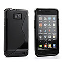 Custodia Samsung Galaxy S2 Plus i9105 S-Line Silicone Bumper - Nero
