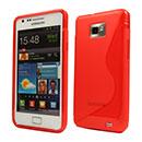 Custodia Samsung Galaxy S2 Plus i9105 S-Line Silicone Bumper - Rosso
