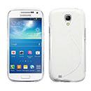 Custodia Samsung Galaxy S4 Mini i9190 S-Line Silicone Bumper - Bianco