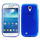 Custodia Samsung Galaxy S4 Mini i9190 S-Line Silicone Bumper - Blu