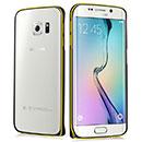 Custodia Samsung Galaxy S6 Edge G925F G9250 Frame Metal Plated Cover Rigida - Nero
