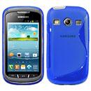 Custodia Samsung Galaxy Xcover 2 S7710 S-Line Silicone Bumper - Blu