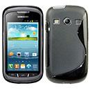 Custodia Samsung Galaxy Xcover 2 S7710 S-Line Silicone Bumper - Nero