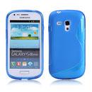 Custodia Samsung i8190 Galaxy S3 Mini S-Line Silicone Bumper - Blu