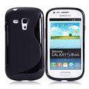 Custodia Samsung i8190 Galaxy S3 Mini S-Line Silicone Bumper - Nero