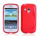 Custodia Samsung i8190 Galaxy S3 Mini S-Line Silicone Bumper - Rosso