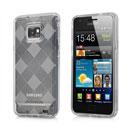 Custodia Samsung i9100 Galaxy S2 Grid TPU Silicone Case - Clear