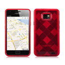 Custodia Samsung i9100 Galaxy S2 Grid TPU Silicone Case - Rosso