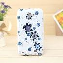 Custodia Samsung i9103 Galaxy R Farfalla Silicone Gel Case - Blu