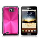 Custodia Samsung i9220 Galaxy Note Alluminio Metal Plated Cover - Fucsia