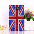 Custodia Samsung i9220 Galaxy Note bandiera Regno Unito Diamante Cover - Misto