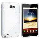 Custodia Samsung i9220 Galaxy Note S-Line Silicone Bumper - Bianco