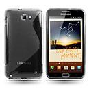 Custodia Samsung i9220 Galaxy Note S-Line Silicone Bumper - Clear