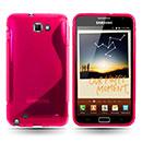 Custodia Samsung i9220 Galaxy Note S-Line Silicone Bumper - Fucsia