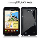 Custodia Samsung i9220 Galaxy Note S-Line Silicone Bumper - Nero